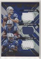Andrew Luck, Nyheim Hines, T.Y. Hilton /49