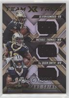 Alvin Kamara, Michael Thomas, Tre'Quan Smith #/99