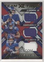 Eli Manning, Kyle Lauletta, Saquon Barkley #/99