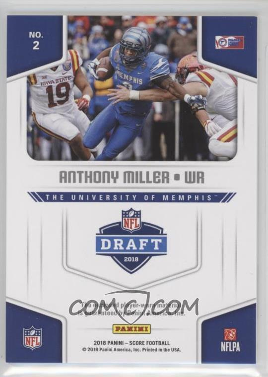 2018 Score - Collegiate Jerseys  2 - Anthony Miller - COMC Card ... 9353f8b89