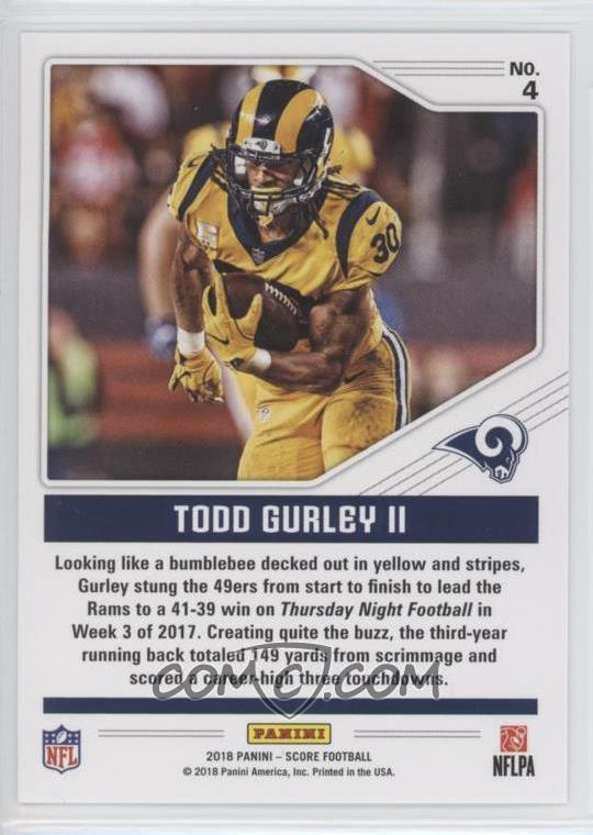 info for 6eced 32e67 2018 Score - Color Rush #4 - Todd Gurley II
