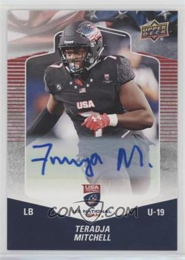 2018 Upper Deck USA Football - [Base] - Autographs [Autographed] #36 - Teradja Mitchell