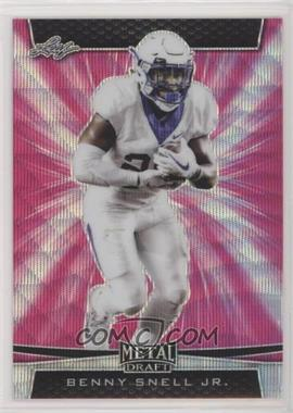 2019 Leaf Metal Draft - [Base] - Pink Wave #BP-BSJ - Benny Snell Jr. /5