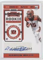 Rookie Ticket - Damion Willis