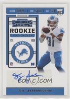 Rookie Ticket - Ty Johnson