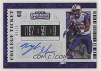 College Ticket Variation - Myles Gaskin #/23