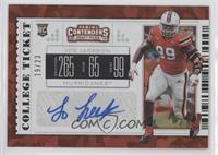 College Ticket - Joe Jackson #/23