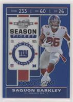 Season Ticket - Saquon Barkley #/99