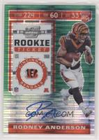 Rookie Ticket - Rodney Anderson #/27