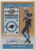 Rookie Ticket - Will Grier #/50