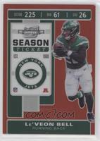 Season Ticket - Le'Veon Bell #/199