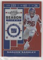 Season Ticket - Saquon Barkley #/199