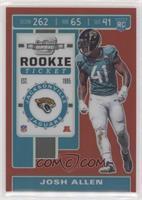 Rookie Ticket - Josh Allen #/199