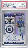 Rookie Ticket RPS Autographs - Darius Slayton [PSA 10 GEM MT]