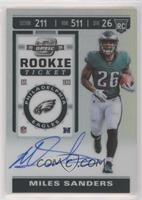 Rookie Ticket RPS Autographs - Miles Sanders