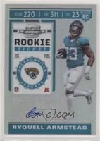 Holo Prizm Rookie Ticket Autographs - Ryquell Armstead