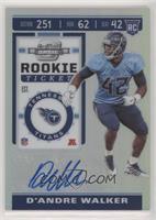 Rookie Ticket Autographs - D'Andre Walker