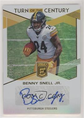 2019 Panini Donruss Elite - Turn of the Century Autographs #TC-BS - Benny Snell Jr. /199