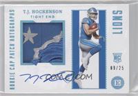 Rookie Cap Patch Autographs - T.J. Hockenson #/25