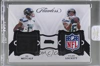 DK Metcalf, Tyler Lockett [Uncirculated] #/3
