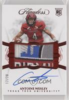 Flawless Rookie Patch Autographs - Antoine Wesley #/20