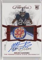 Flawless Rookie Patch Autographs - Miles Sanders [EX to NM] #/20