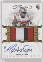 Flawless Rookie Patch Autographs - Mike Weber #/25