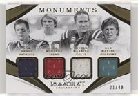 Peyton Manning, Tom Brady, Dan Marino, Joe Montana #/49