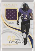 Ray Lewis #/52