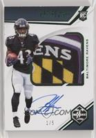 Rookie Patch Autographs Variations - Justice Hill #/5