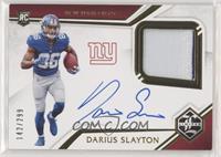 Rookie Patch Autographs - Darius Slayton #/299
