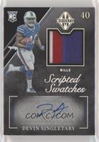 Rookie Scripted Swatches - Devin Singletary #/10