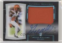 Rookie Patch Autographs - Greedy Williams #/20