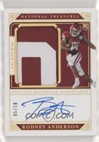 College Materials Signatures - Rodney Anderson /10