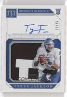 College Materials Signatures - Tyree Jackson #/25