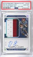 College Materials Signatures - Devin Singletary [PSA 10 GEM MT] …