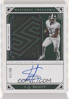 College Materials Signatures - L.J. Scott #/99