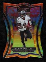 Premier Level Die-Cut - Lamar Jackson #/25