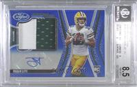Freshman Fabric Mirror Signatures - Jordan Love [BGS 8.5 NM‑MT+…
