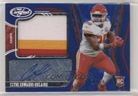Freshman Fabric Mirror Signatures - Clyde Edwards-Helaire #/20