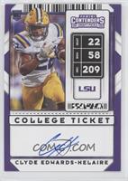 RPS College Ticket Autographs - Clyde Edwards-Helaire