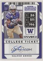 College Ticket Autographs - Salvon Ahmed