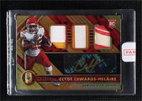 Rookie Jersey Autographs Triple - Clyde Edwards-Helaire [Uncirculated] #/49
