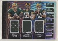 Brett Favre, Aaron Rodgers, Jordan Love