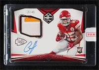 Rookie Patch Autographs - Clyde Edwards-Helaire [Uncirculated] #/49