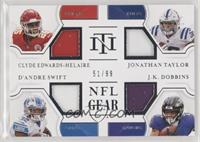 Clyde Edwards-Helaire, D'Andre Swift, J.K. Dobbins, Jonathan Taylor #/99