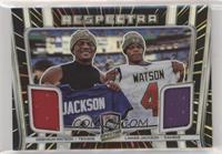 Deshaun Watson, Lamar Jackson #/75