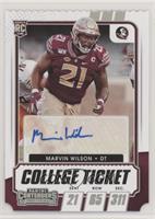 College Ticket Autographs - Marvin Wilson #/21