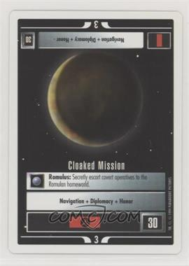 1994 Star Trek Customizable Card Game: 1st Edition Premiere - Black Border Expansion Set [Base] #CLMI - Cloaked Mission
