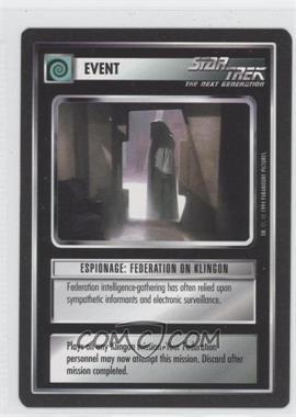 1994 Star Trek Customizable Card Game: 1st Edition Premiere - Black Border Expansion Set [Base] #ESFK - Espionage: Federation on Klingon
